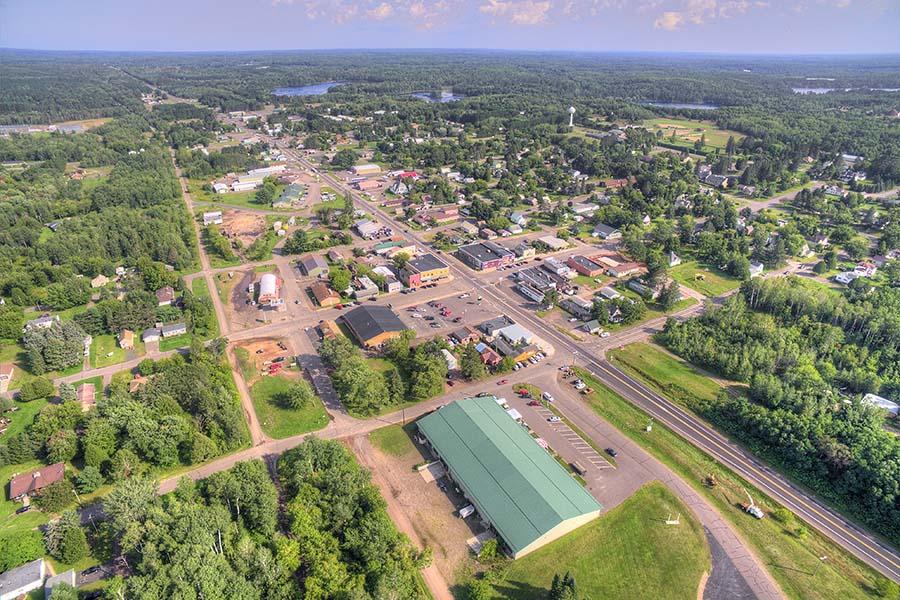 Sheffield PA - Aerial View Of Rural Town Sheffield Pennsylvania